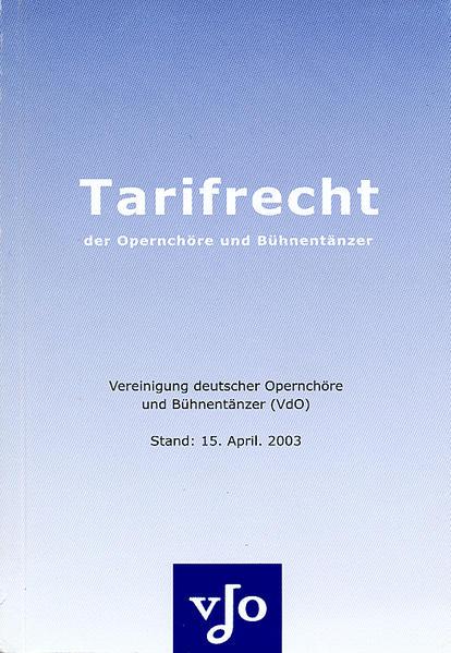 Tarifrecht der Opernchöre und Bühnentänzer - Coverbild