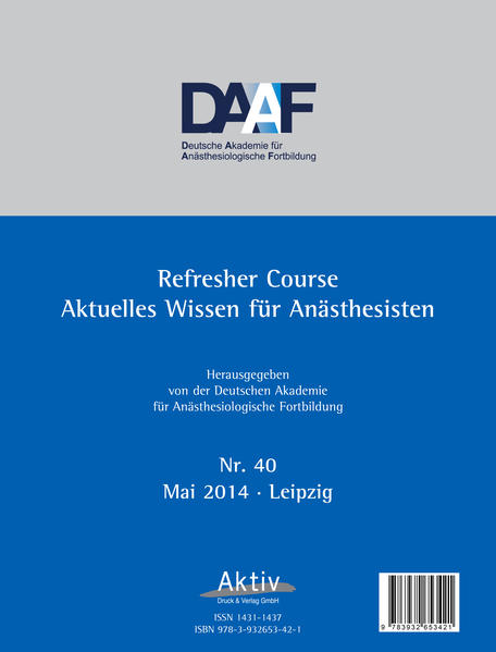 Refresher Course Nr. 40/2014 - Coverbild
