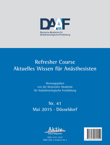 Refresher Course Nr. 41/2015 - Coverbild