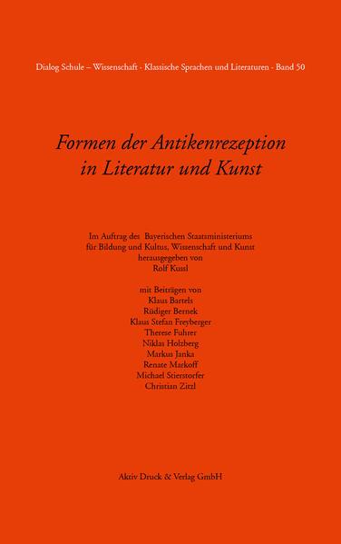 Formen der Antikenrezeption in Literatur und Kunst Band 50 - Coverbild