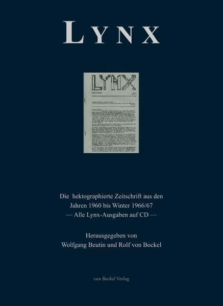 Lynx. Anmerkungen zu Politik und Literatur. - Coverbild