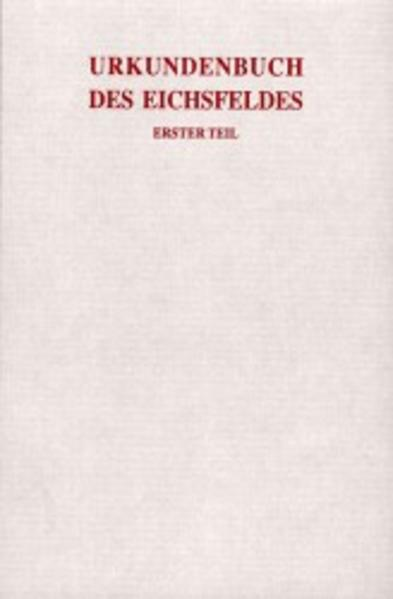 Urkundenbuch des Eichsfeldes - Coverbild