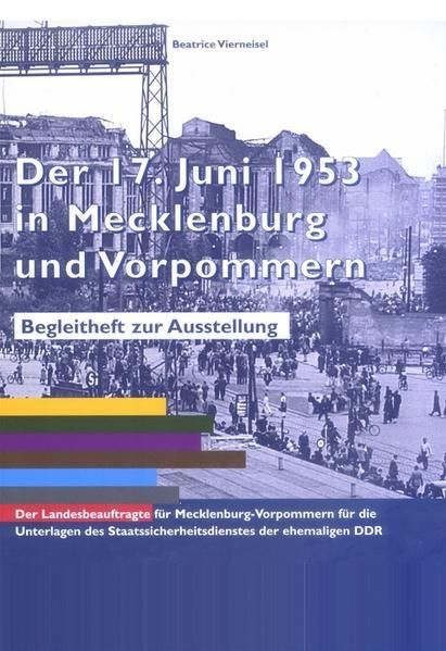 Der 17. Juni 1953 in Mecklenburg-Vorpommern - Coverbild