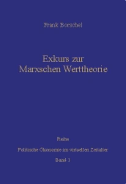 Exkurs zur Marxschen Werttheorie - Coverbild