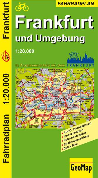 Frankfurt und Umgebung - Radwegeplan - Coverbild