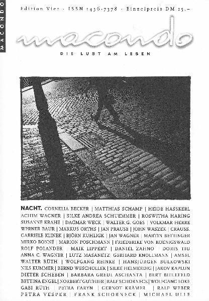 Macondo. Die Lust am Lesen / Nacht - Coverbild