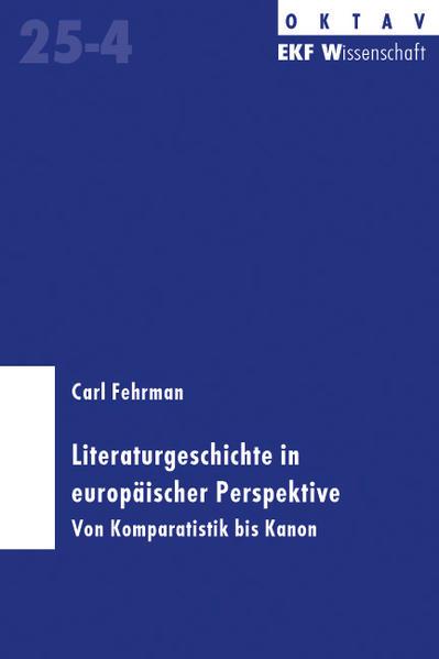 Literaturgeschichte in europäischer Prespektive - Coverbild