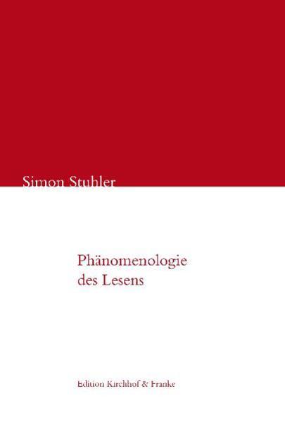 Phänomenologie des Lesens - Coverbild