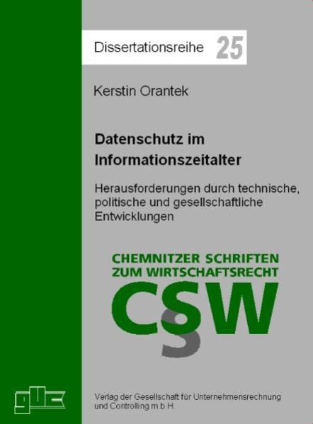 Datenschutz im Informationszeitalter - Coverbild