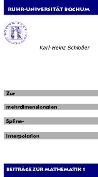 Zur mehrdimensionalen Spline-Interpolation - Coverbild