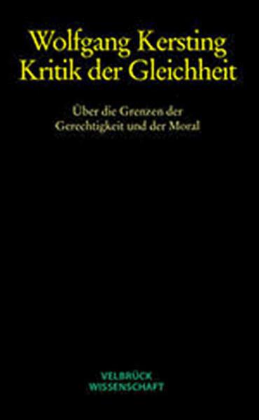 Kritik der Gleichheit - Studienausgabe - Coverbild