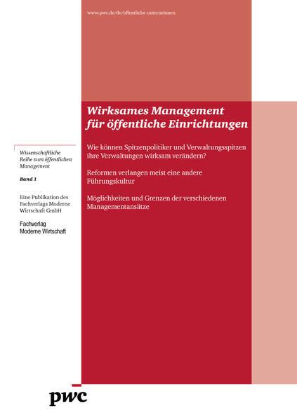 Wirksames Management für öffentliche Einrichtungen - Coverbild