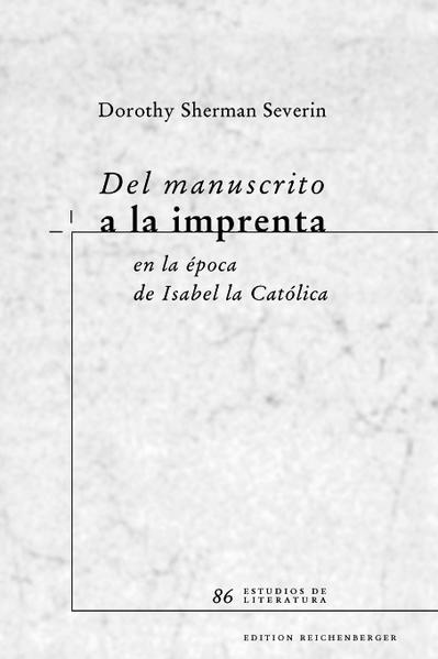 Del manuscrito a la imprenta en la época de Isabel la Católica - Coverbild