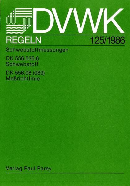 DVWK-Regel 125 Schwebstoffmessungen - Coverbild