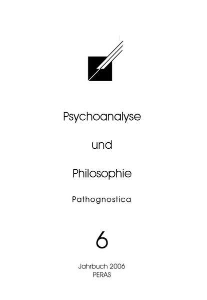 Psychoanalyse und Philosophie 6 -  Jahrbuch 2006 - Coverbild