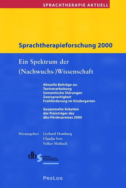 Sprachtherapie Aktuell / Sprachtherapieforschung 2000 - Coverbild