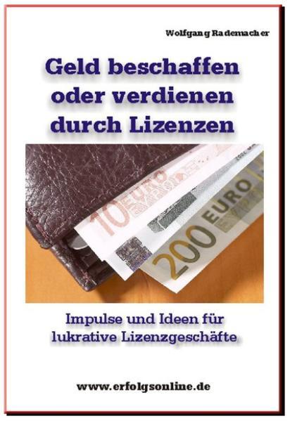 Geld beschaffen oder finanzieren mit Lizenzen - Coverbild