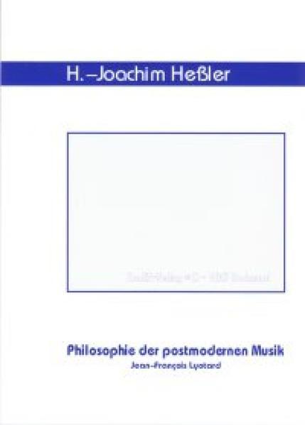 Philosophie der postmodernen Musik - Coverbild