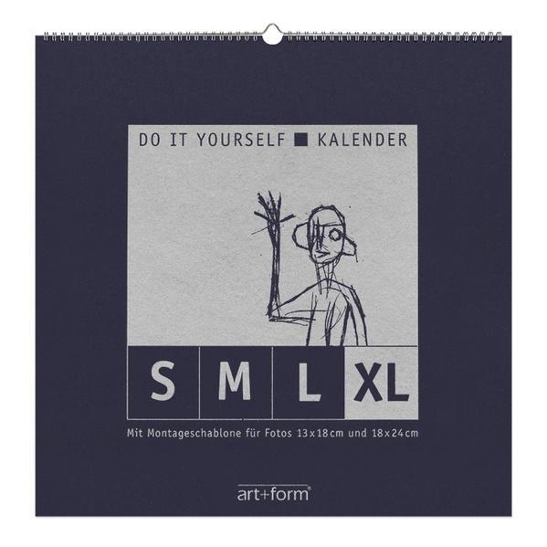 DO IT YOURSELF-KALENDER XL Blau  (48x48cm) - Coverbild