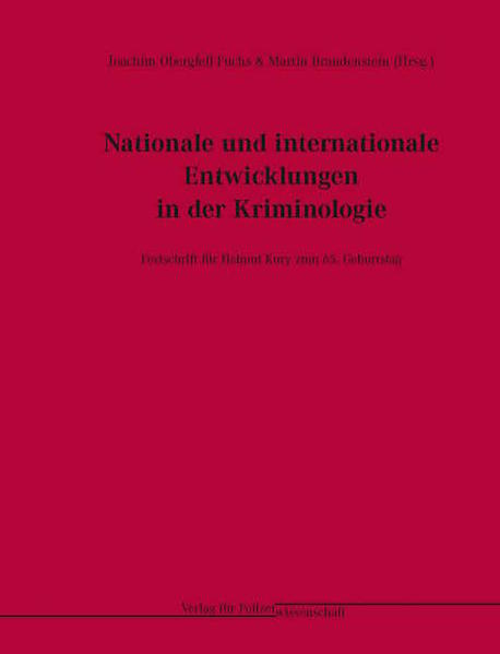 Nationale und internationale Entwicklungen in der Kriminologie - Coverbild