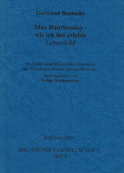 Max Dauthendey - wie ich ihn erlebte. Lebensbild - Coverbild