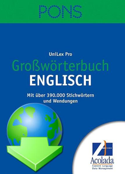 PONS Großwörterbuch Englisch - Coverbild