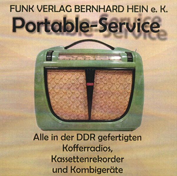 CD-ROM: Portable-Service /Alle Koffergeräte, Kassettenrekorder und Radiorekorder der DDR - Coverbild