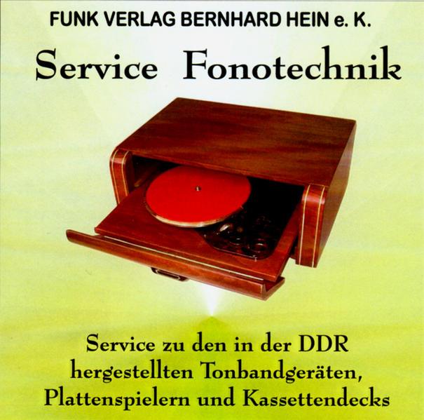 CD-ROM: DDR-Fonotechnik-Service - Coverbild