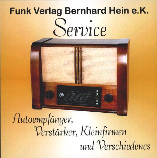 Service-CD  Autoradios, Heimverstärker, Kleinstfirmen - Coverbild