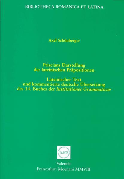 Priscians Darstellung der lateinischen Präpositionen - Coverbild
