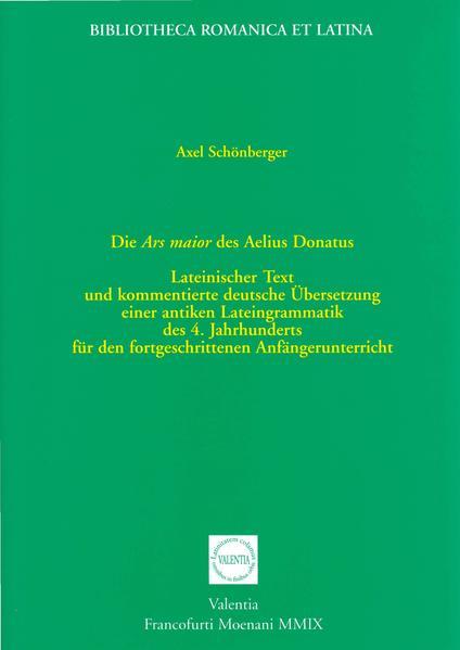 Die Ars maior des Aelius Donatus - Coverbild