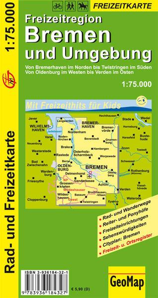 Bremen und Umgebung Rad- und Freizeitkarte - Coverbild