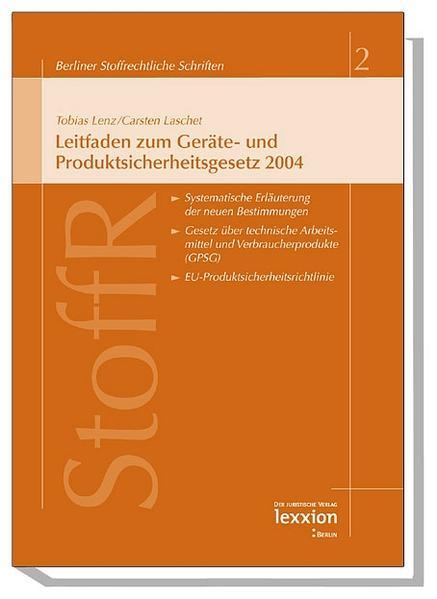 Leitfaden zum Geräte- und Produktsicherheitsgesetz 2004 - Coverbild
