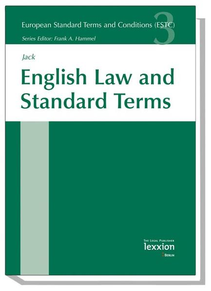 English Law and Standard Terms - Coverbild