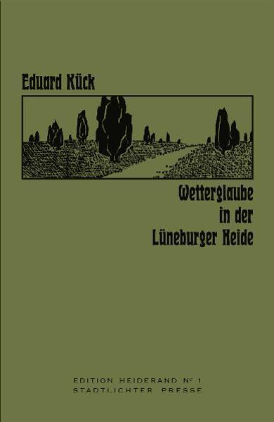 Wetterglaube in der Lüneburger Heide - Coverbild