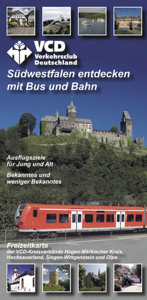 VCD Freizeitkarte Südwestfalen - Coverbild