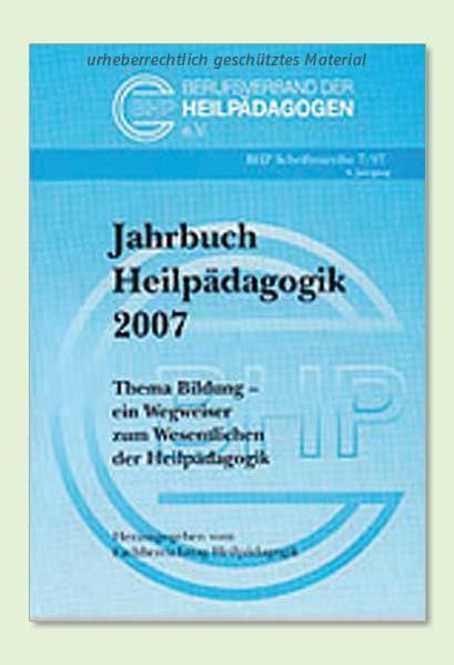 Jahrbuch Heilpädagogik 2007 - Coverbild