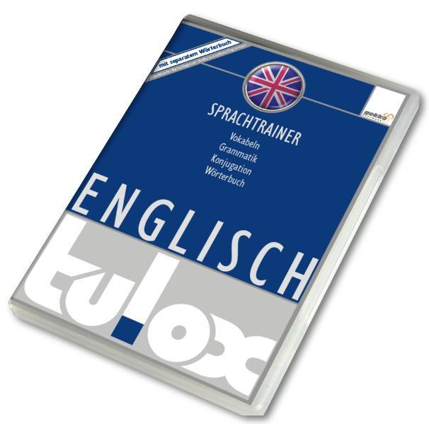 tulox Sprachtrainer Englisch - Vokabeltrainer, Konjugations- und Grammatiktrainer inklusive großem e-Taschen-Wörterbuch mit 90.000 fremdsprachlich vertonten Vokabeln - Coverbild