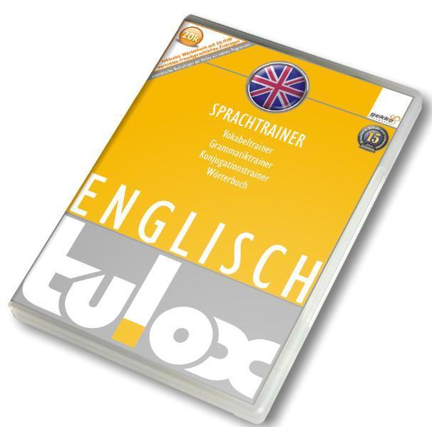 tulox Sprachtrainer Englisch - Vokabeltrainer, Konjugations- und Grammatiktrainer inklusive e-Euro-Wörterbuch mit 20.000 vertonten fremdsprachlichen Einträgen - Coverbild