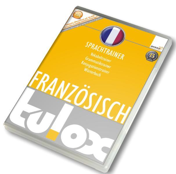 tulox Sprachtrainer Französisch  - Vokabeltrainer, Konjugations- und Grammatiktrainer inklusive e-Euro-Wörterbuch mit 20.000  fremdsprachlich vertonten Vokabeln - Coverbild