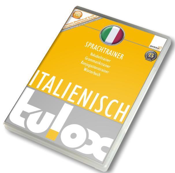 tulox Sprachtrainer Italienisch - Vokabeltrainer, Konjugations- und Grammatiktrainer inklusive e-Euro-Wörterbuch mit 20.000 fremdsprachlich vertonten Vokabeln - Coverbild