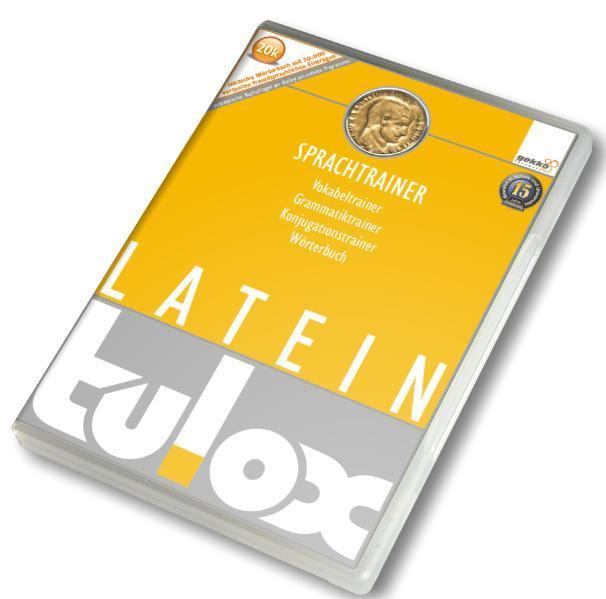 tulox Sprachtrainer PC Latein - Vokabeltrainer, Konjugations- und Grammatiktrainer inklusive e-Wörterbuch mit 20.000 fremdsprachlich vertonten Vokabeln für Schule und Studium - Coverbild