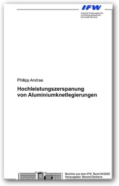 Hochleistungszerspanung von Aluminiumknetlegierungen - Coverbild