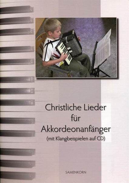 Christliche Lieder für Akkordeonanfänger - Coverbild