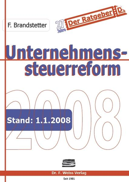 Unternehmenssteuerreform 2008 - Coverbild