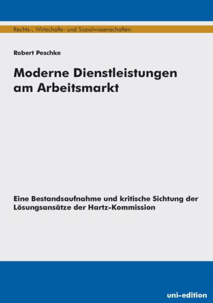 Moderne Dienstleistungen am Arbeitsmarkt - Coverbild