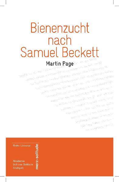 Bienenzucht nach Samuel Beckett - Coverbild