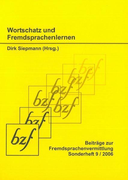 Wortschatz und Fremdsprachenlernen - Coverbild