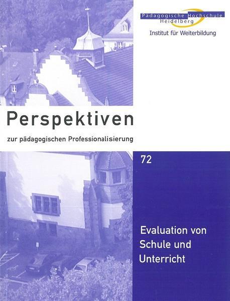 Evaluation von Schule und Unterricht - Coverbild