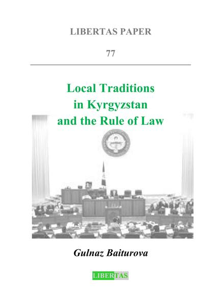 Local Traditions in Kyrgyzstan  and the Rule of Law - Coverbild